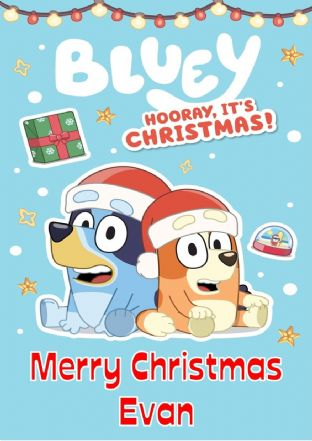 Personalised Bluey Christmas Card